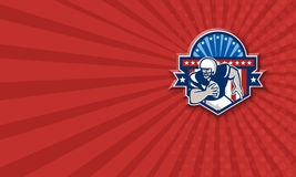 Amerikanischer Fußball-Gerät-Verteidigers-Sturzhelm-Schild Stockfoto