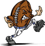 Amerikanischer Fußball-Kugel-Spieler-Karikatur Lizenzfreie Stockbilder