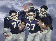 Amerikanischer Fußball Linesmen Stockfoto