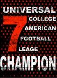 Amerikanischer Fußball Mann-T-Shirt Weinlese-Vektordruck für Jungensportkleidung Lizenzfreie Abbildung