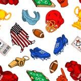 Amerikanischer Fußball nahtlos Stockfoto
