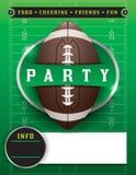 Amerikanischer Fußball-Partei-Schablonen-Illustration Stockfotografie