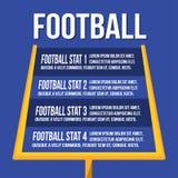 Amerikanischer Fußball-Senkrechten oder Torpfosten lizenzfreie abbildung