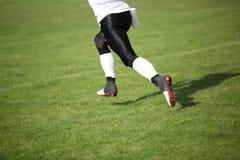 Amerikanischer Fußball-Spieler stockfoto