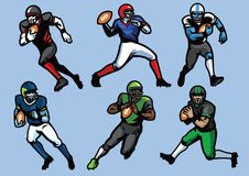 Amerikanischer Fußball-Spielersatz Stockbild
