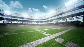 Amerikanischer Fußball-Stadion Stockfoto