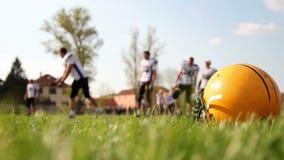 Amerikanischer Fußball-Training stock video