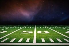 Amerikanischer Fußballplatz lizenzfreies stockbild