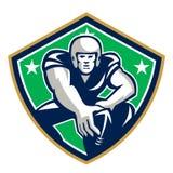 Amerikanischer Fußball-Mitte-Verschluss Front Shield Lizenzfreie Stockfotos
