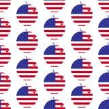 Amerikanischer großer Apfel mit Herzmuster Stockfotos