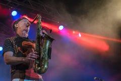Amerikanischer Jazzsaxophonist Bill Evans Live bei Nisville Jazz Festival, am 13. August 2016 Stockfoto