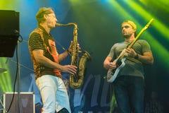 Amerikanischer Jazzsaxophonist Bill Evans Live bei Nisville Jazz Festival, am 13. August 2016 Lizenzfreies Stockbild