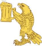 Amerikanischer kahler Eagle Beer Stein Drawing Lizenzfreies Stockbild