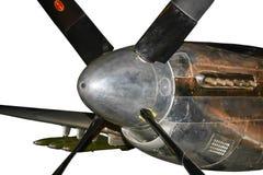 Amerikanischer Kampfflugzeugflugzeugmotor des Zweiten Weltkrieges, Stockfotografie