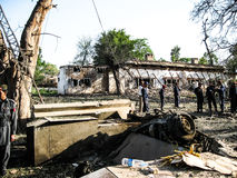 Amerikanischer Konsulat-Angriff in Peschawar, Pakistan stockbild