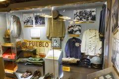 Amerikanischer Kriegsschiff Pueblo stockbilder