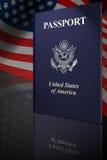 Amerikanischer Paß Stockbild