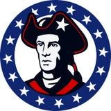 Amerikanischer Patriot Minuteman spielt Retro- die Hauptrolle lizenzfreie abbildung