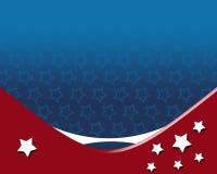 Amerikanischer patriotischer Hintergrund Stockfotografie