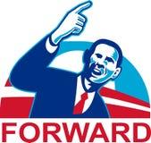 Amerikanischer Präsident Barack Obama, der vorwärts zeigt lizenzfreie abbildung
