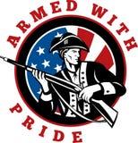 Amerikanischer revolutionärer Soldat Lizenzfreie Stockfotos
