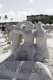2015 amerikanischer Sand-Sculpting Meisterschaften Lizenzfreie Stockfotos