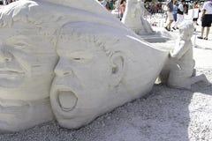 2015 amerikanischer Sand-Sculpting Meisterschaften Lizenzfreies Stockfoto