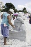 2015 amerikanischer Sand-Sculpting Meisterschaften Lizenzfreies Stockbild