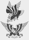 Amerikanischer schreiender Eagle Tattoo Vector Illustration Lizenzfreie Stockfotografie