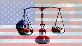 Amerikanischer Schwerpunkt Stockfoto