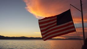 Amerikanischer Sonnenuntergang Stockfotos
