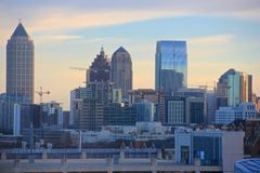 Amerikanischer Traum, Atlanta-Wolkenkratzer-Skyline Lizenzfreie Stockfotos
