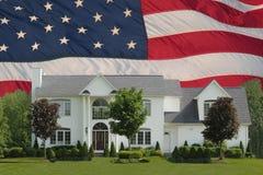 Amerikanischer Traum-Haus Stockbild