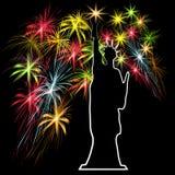 Amerikanischer Unabhängigkeitstag, US-Symbole, Vektorillustration Lizenzfreie Stockfotos