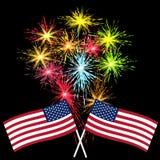 Amerikanischer Unabhängigkeitstag, US-Symbole, Vektorillustration Lizenzfreies Stockbild