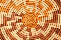 Amerikanischer Ureinwohner gesponnenes Hintergrund-Muster Stockfotos
