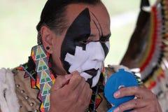 Amerikanischer Ureinwohner am Kriegsgefangen wow lizenzfreies stockbild