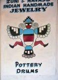 Amerikanischer Ureinwohner spornte Kunst in Santa Fe New Mexiko USA an Stockfotos