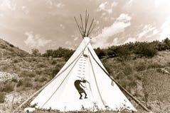 Amerikanischer Ureinwohner Teepee Lizenzfreie Stockbilder