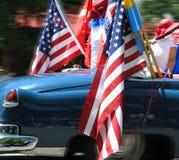Amerikanisches Auto und Mädchen stockbild