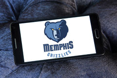 Amerikanisches Basketball-Team-Logo Memphis Grizzliess Stockbild