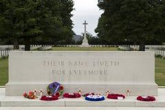 Amerikanisches cementery in Normandia Stockbild