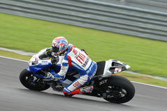 Amerikanisches Colin Edwards Fiat Yamaha Team Polin 2007 Lizenzfreie Stockfotos