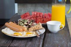 Amerikanisches Frühstück Stockfotografie