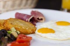 Amerikanisches Frühstück Stockbild