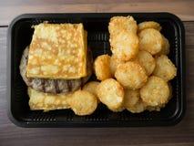 Amerikanisches Frühstück der ungesunden Fertigkost ungesund Stockfotos