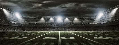 Amerikanisches Fußballstadion Stockbild