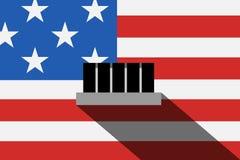 Amerikanisches Gefängnis und Gefängnis in den Vereinigten Staaten von Amerika stock abbildung