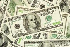 Amerikanisches Geld in $100, $50 und $20 Rechnungen Lizenzfreie Stockfotos