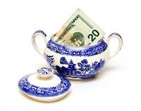 Amerikanisches Geld Sugar Bowl Stockbild